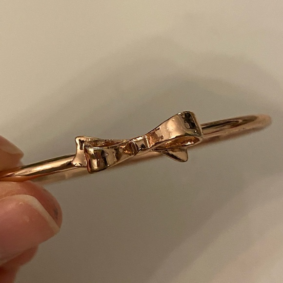Kate spade ribbon rose gold bracelet